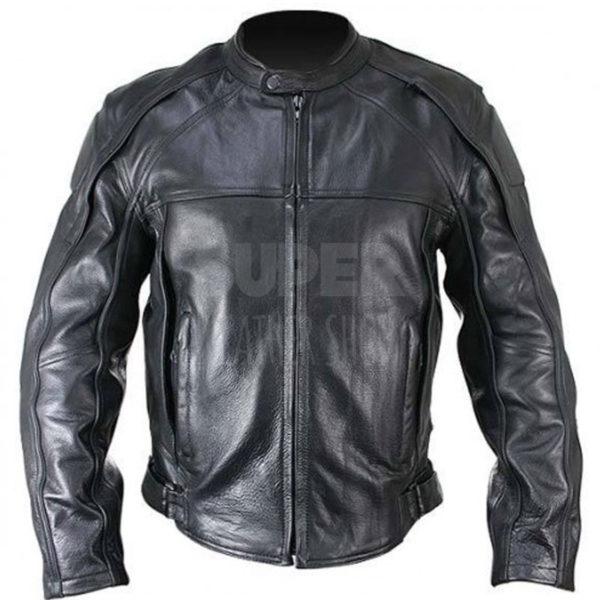 Men-Cowhide-Armor-Black-Motorcycle-Leather-Jacket