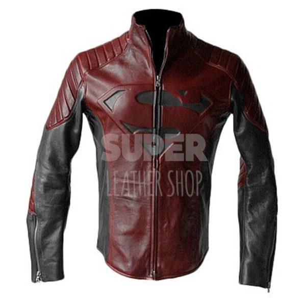 Superman-Smallville-Man-of-Steel-Black-and-Maroon-Jacket