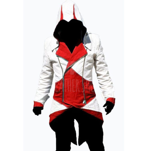 Assassin's Creed 3 Connor Kenway White/Red Faux Jacket Costume