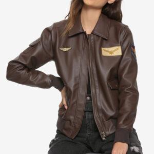 carol danvers leather jacket