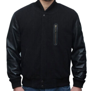 Creed Black Letterman Jacket