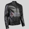 Mens Black Biker Leather Jacket
