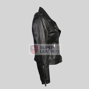 Womens Black Leather Jacket Perfecto Style