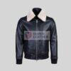 Mens Black Pilot Leather Jacket