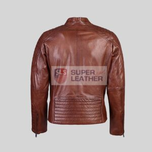 Mens Dark Brown Biker Leather Jacket