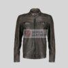 Mens Brown Biker Leather Jacket