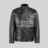 Mens Black 3 Quarter Leather Jacket