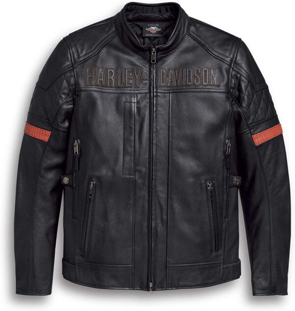 Classic Side Lace Venocker Style Waterproof Triple Vent Biker style Genuine Cowhide Leather Motorcycle Black Jacket