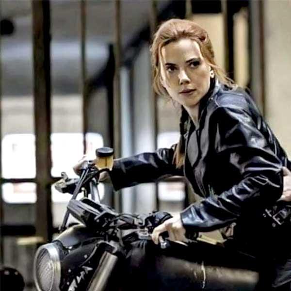 Black widow 2021 Natasha Romanoff Motorcycle Movie Leather Jackets