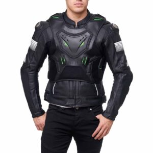 Men's The Leather Jacket Features Premium Cowhide Leather and Stitching