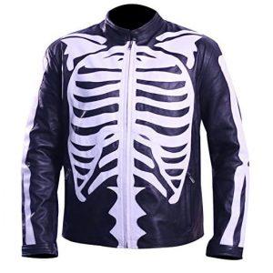 SLS Men Skeleton Leather Jacket