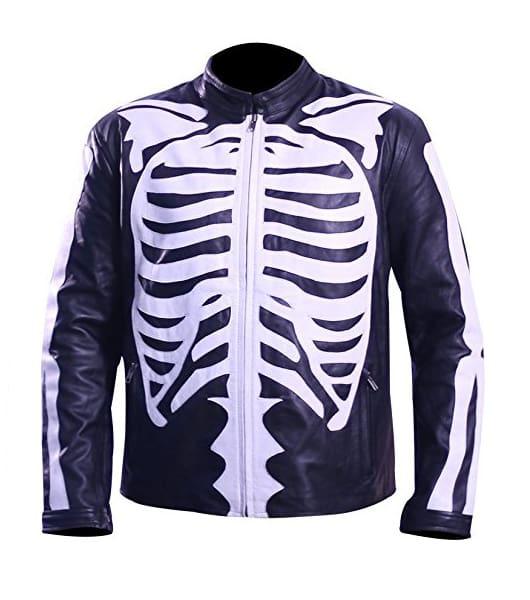 Skeleton Leather Jacket2