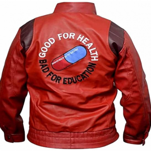 Akira Kaneda Jacket Cosplay Red Men Coat Capsule Pill Printed Bomber Motorcycle Rider Leather Costume Anime Clothes