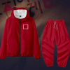Men's Women Squid Game Square Guard Hoodie Outfit