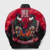 Three Peat Jeff Chicago Bulls Leather Jacket