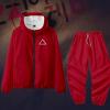 Triangle-Men Women Jacket Pant Set Squid Game Square Circle Geometry Stand Collar