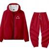 Triangle-Men Women Jacket Pant Set Squid Game Square Circle Geometry Stand Collar 2